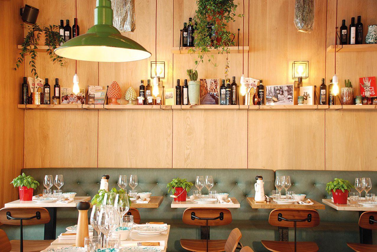 La salle de restaurant de Pane e Olio