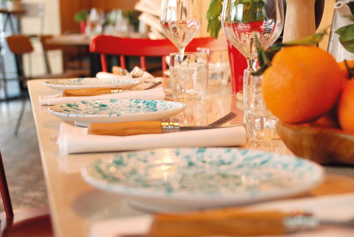La salle du restaurant Pane e Olio