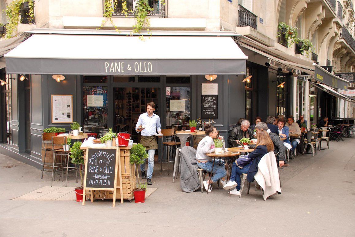 La terrasse du restaurant Pane e Olio